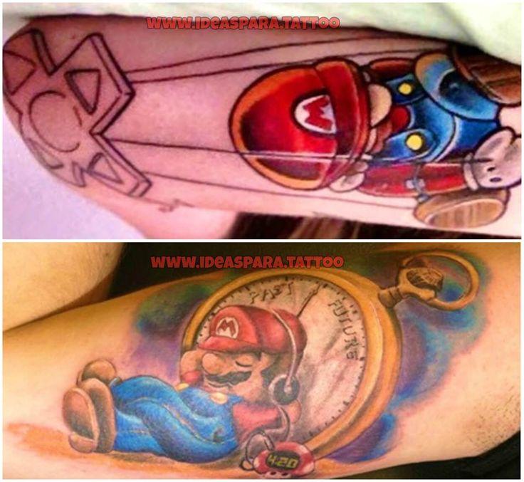 """Está más que claro que los tatuajes GAMER, cada día, se están convirtiendo en una idea muy popular por apasionados a los videojuegos ¡¡¡ESE Se Sale """"1UP""""!!!"""