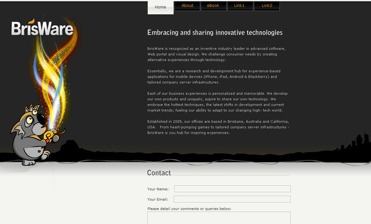 Brisware | from Elfshot Web Design Folio