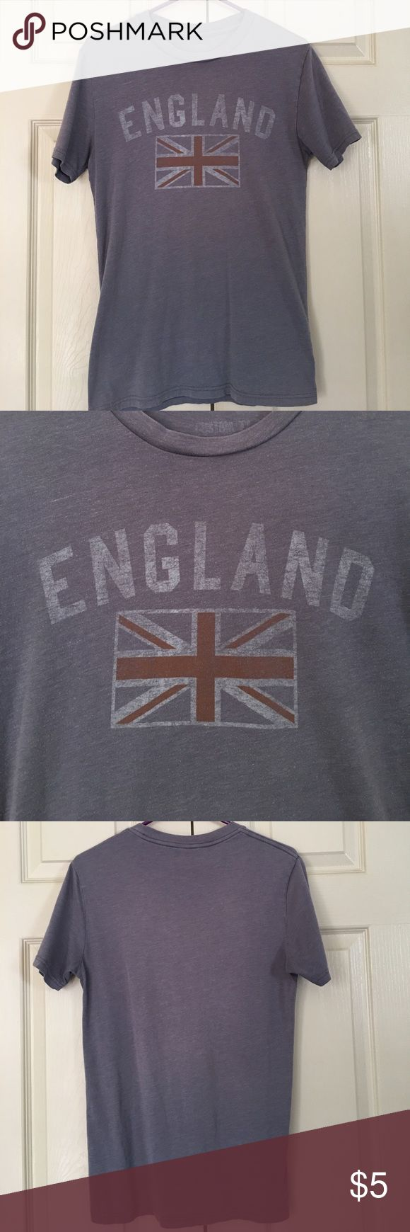 ❤️England Shirt!❤️ Selling a gently worn England shirt! Shirt came with the faded look! In great condition! Does have piling from being washed often. No holes or stains! Shirts Tees - Short Sleeve