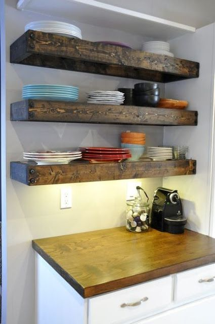 14 best images about floating shelves on pinterest Floating shelf ideas for kitchen
