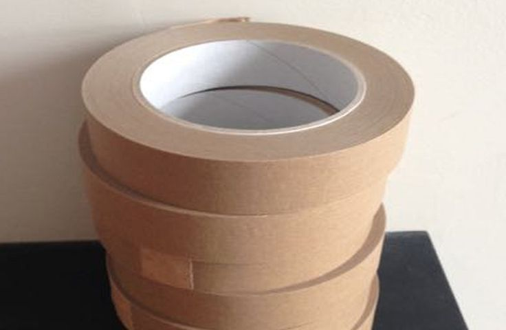 Sticky tape made of paper and biodegradable glue #sustainable
