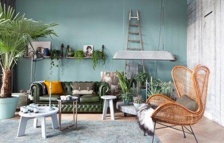 Kleur op de muur is sectie s 4010 b90g p van histor interior pinterest tvs chesterfield - Kleur zen kamer ...