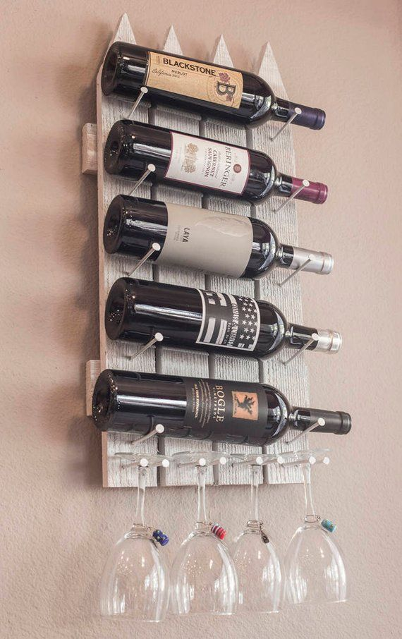 Unique Wall Mounted Wine Rack Stemware Glass Holder Wine