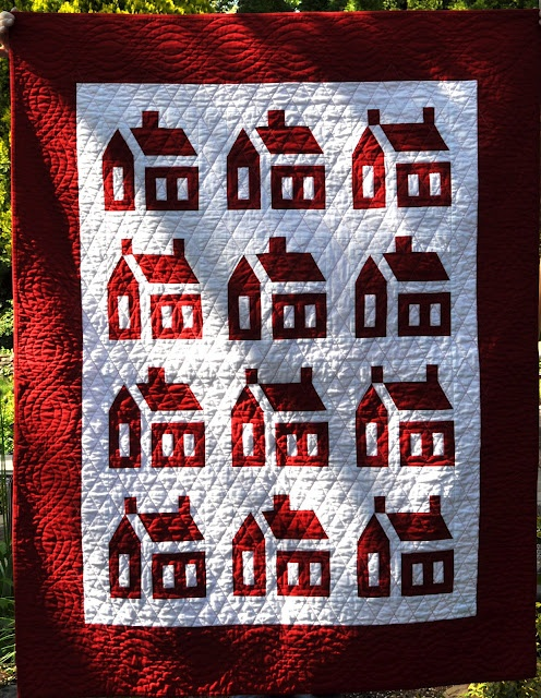 red & white school houses