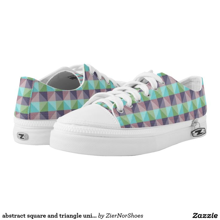 abstract square and triangle unique pattern printed shoes