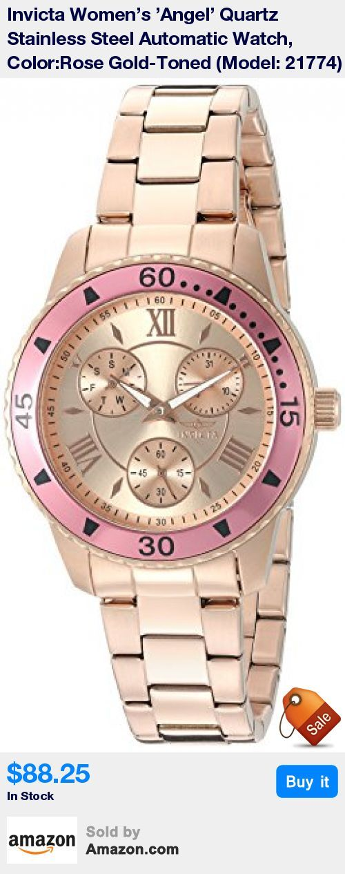 60 Second, Day of The Week and Date Sub dials; 18k Rose Gold Ion-Plated Stainless Steel Bezel with Pink Top Ring * Rose Gold Dial with Rose Gold Tone and White Hands and Rose Gold Tone Hour Markers and Roman Numerals; Luminous; Flame Fusion Crystal; 18k Rose Gold Ion-Plated Stainless Steel Case and Bracelet * Quartz Movement * Case Diameter: 38mm * Water Resistant To 100m (330ft): In General, Suitable for Swimming and Snorkeling, but not Diving