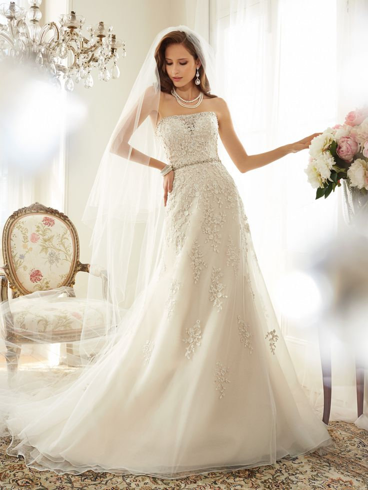 228 best Sophia Tolli Gowns images on Pinterest | Wedding frocks ...