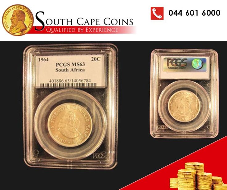 If you love coins as much as we do, then you will absolutely go wild for the 1964 20 Cent, available at #SouthCapeCoins. Call us on 0861 0 COINS! #coins #forsale