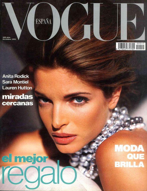 Stephanie Seymour by Sante D'Orazio Vogue España December 1991