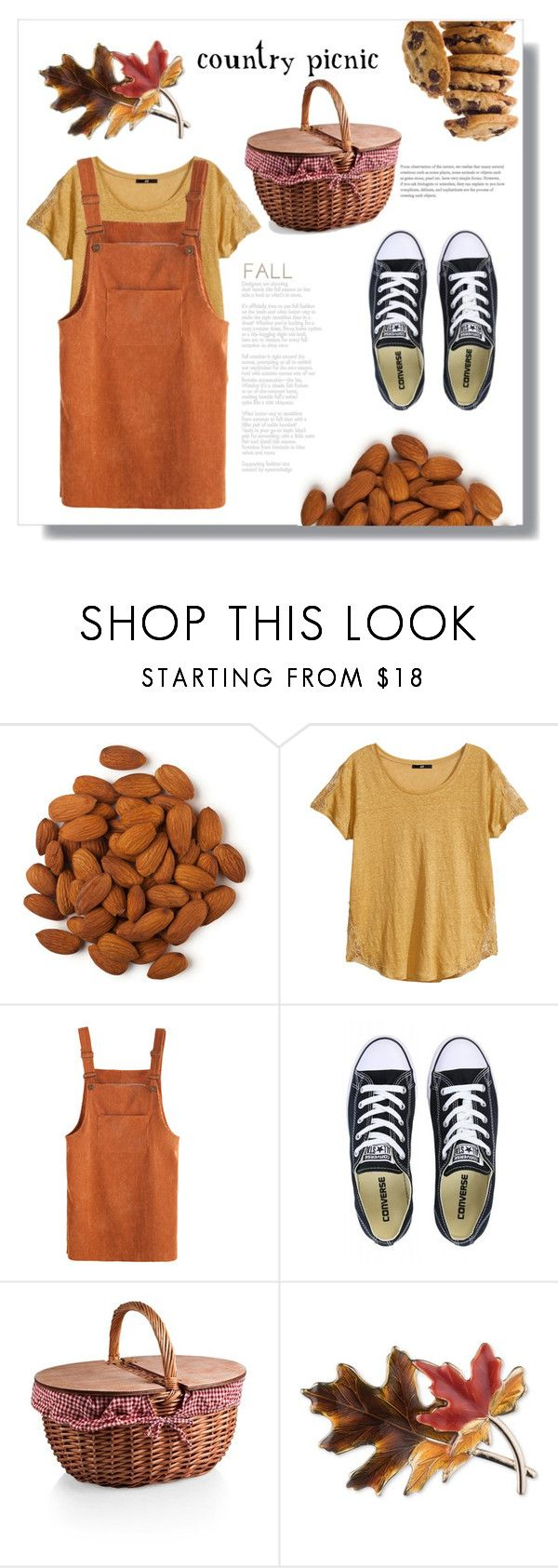 """Country picnic"" by ana-maria-0307 ❤ liked on Polyvore featuring H&M, Converse, Anne Klein and country"
