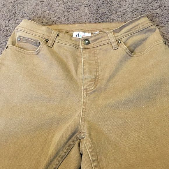 DENIM & CO. TAN JEANS SZ 10  NEW CONDITION FROM QVC INSEAM IS 32 Denim & Co.  Jeans Boot Cut
