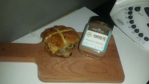 Yummy hot cross buns made with Your Inspiration At Home Pumpkin Pie Spice mix