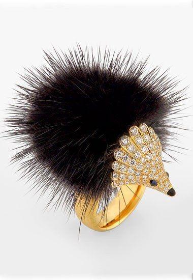 Anello riccio di Marchak - Anelli con animali: preziosa selezione di anelli a forma di animali