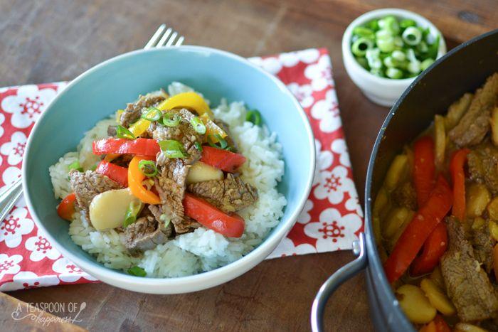 Pepper Steak Stir Fry - A Teaspoon of Happiness