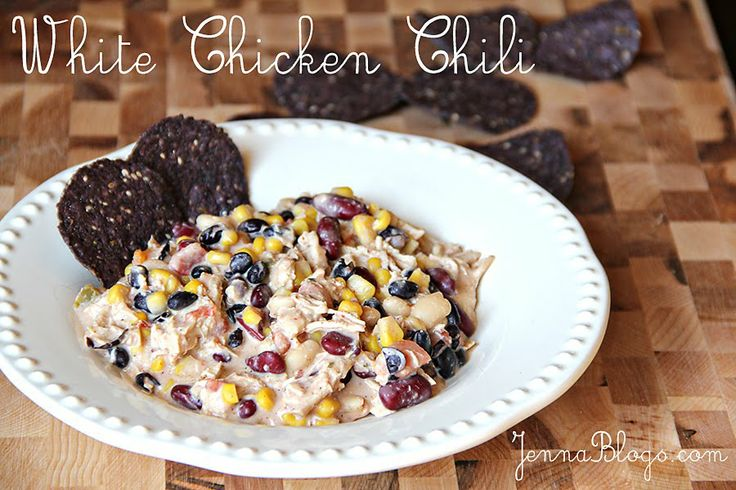 Jenna's Journey: Main Dishes: Chilis Recipes, Black Beans, Fall Dinners, Whitechickenchili, Jenna Journey, Healthy Recipes, White Chicken Chilis, Cream Chee, White Chilis