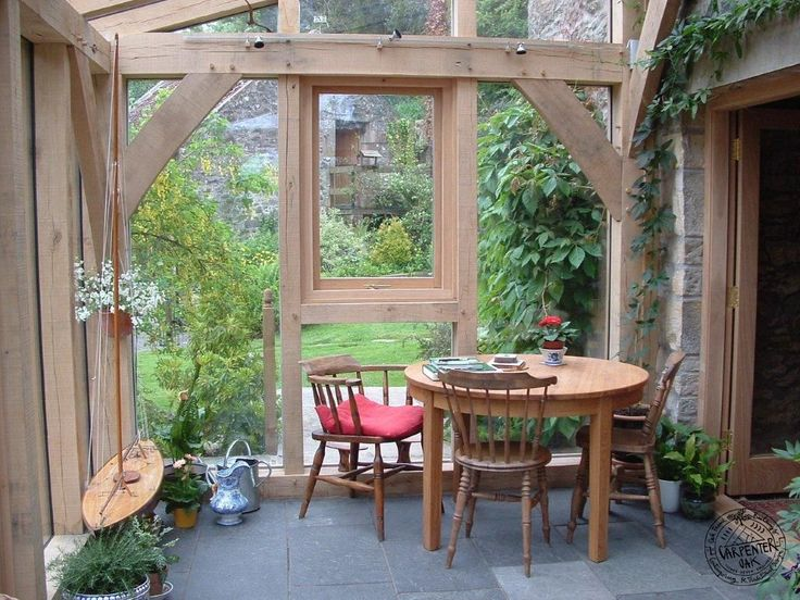 A small lean to oak extension in Fife, Scotland. An example of what can be achieved with a small space and limited budget, using oak framed extensions.