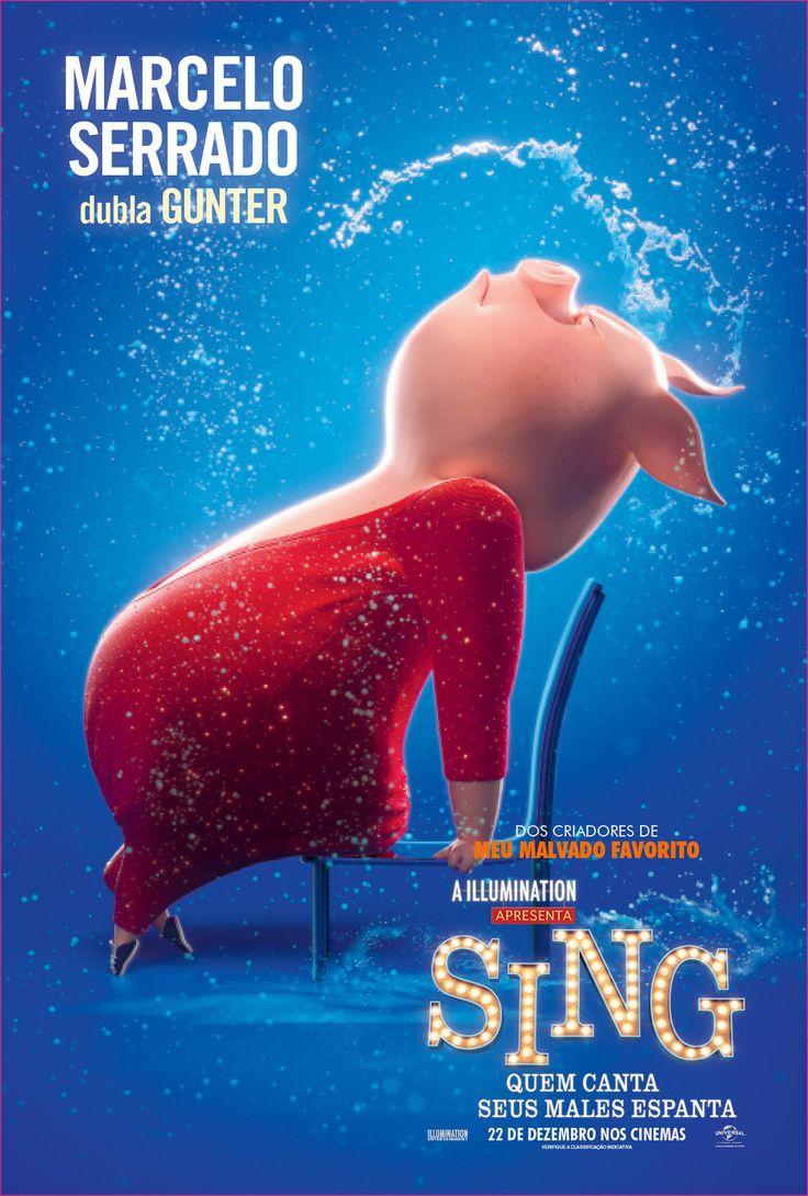 Marcelo Serrado dubla Gunter em Sing - Quem Canta Seus Males Espanta, 22 de dezembro nos cinemas!