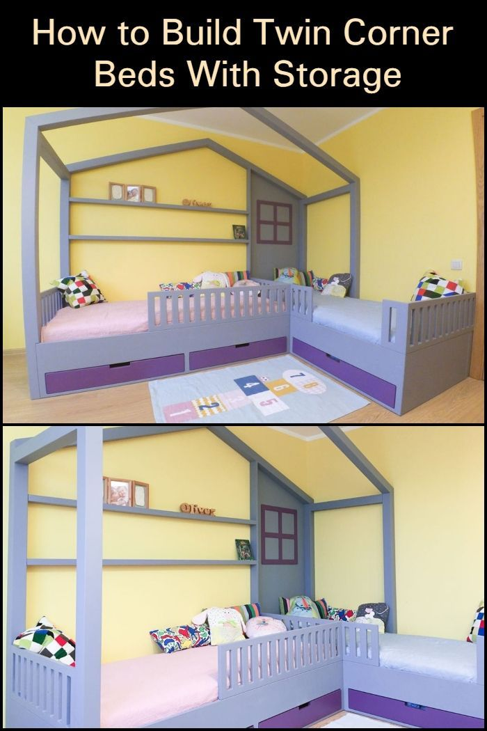 Need A Good Bed Design For Two Little Kids Sharing One Room Here S One That Maximizes Use Of Space Corner Twin Beds Best Bed Designs Bed