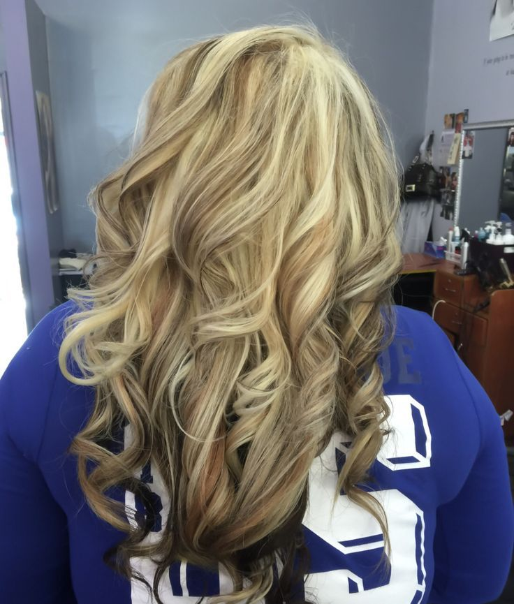 Golden Blonde Hair Heavy Light Blonde Highlight With