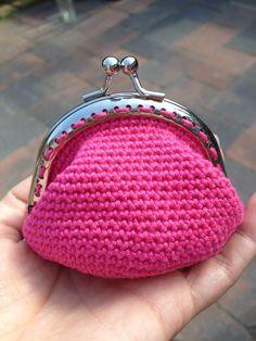 Gehaakte portemonnee , Kiss Lock crochet