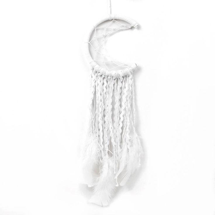Make Your Own White Half Moon Dream Catcher Kit