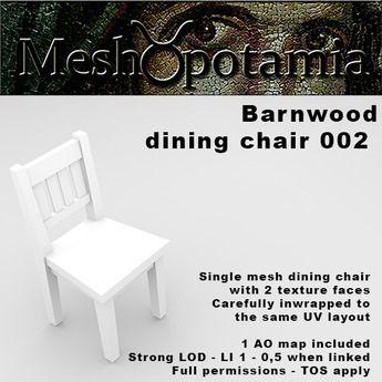 Meshopotamia Barnwood Chair 002 w AO texture