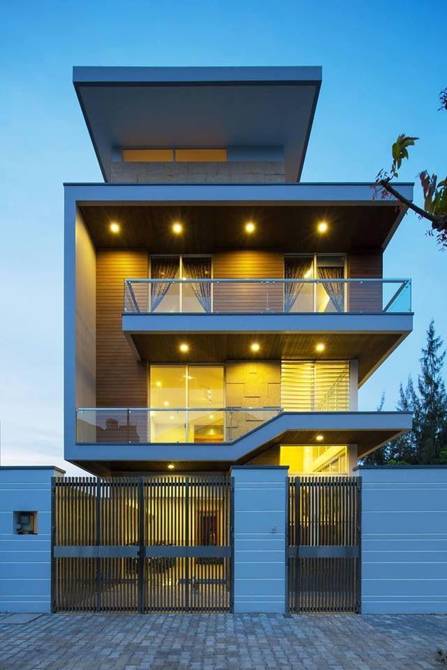 Nice modern house facade pinterest villas Architecture home facade