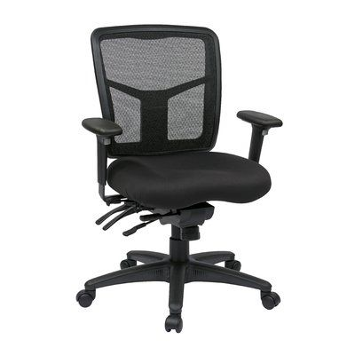 Office Star Pro-Line II Series Mid-Back Desk Chair Upholstery: Nano-Tex® with BioAm - Valor Midnight