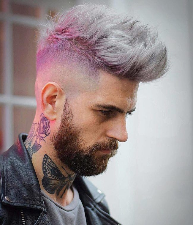 unique men hair color ideas