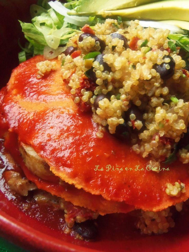 Tamal Azteca-Chicken Enchilada Stack