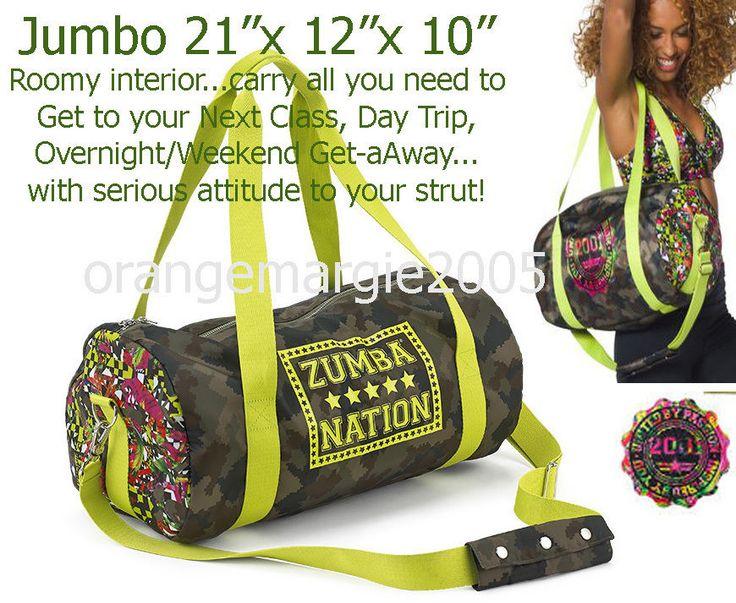 Zumba JUMBO 21x12x10 TOTE Duffle BAG Funked Up Gym