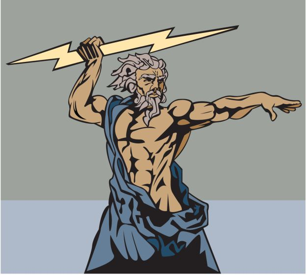 In Ancient Greece the people worshiped multiple gods/goddesses with each watching over something different. Zeus, son of Cronus, was the one who ruled all.