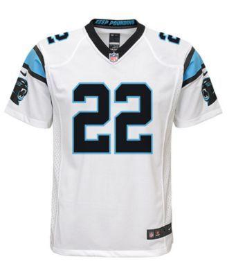 Nike Christian McCaffrey Carolina Panthers Game Jersey, Big Boys (8-20) - White XL