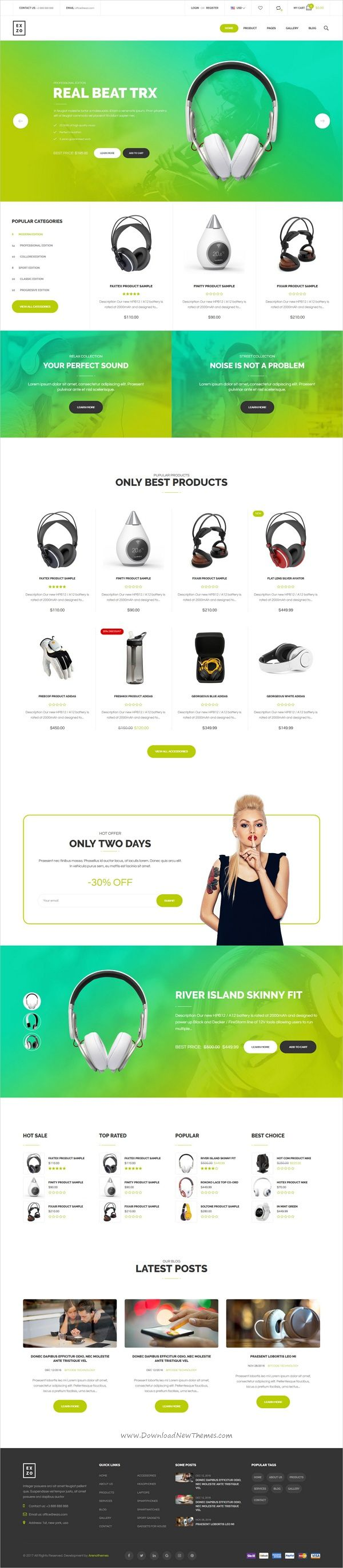 Exzo is a modern and elegant design 7in1 #Shopify theme for #electronics #store stunning eCommerce websites download now➩ https://themeforest.net/item/modern-electronics-ecommerce-shopify-theme-exzo/19340393?ref=Datasata
