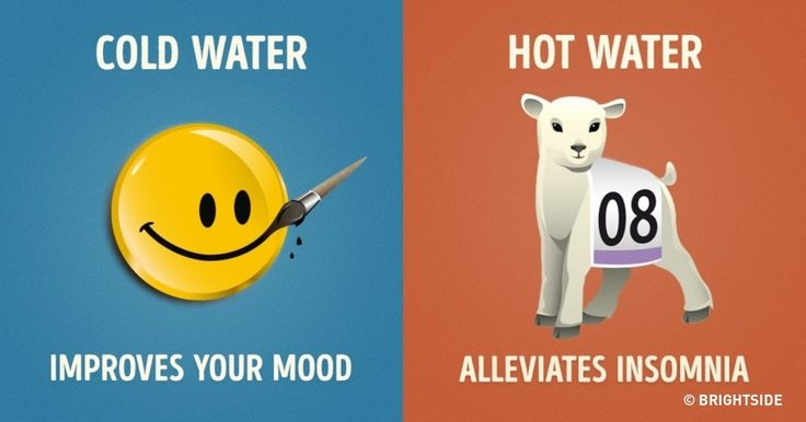 Nine important differences between hot and cold showers