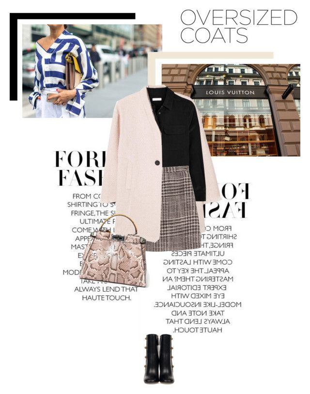 """Oversized Coats"" by veronicamastalli on Polyvore featuring MANGO, Equipment, Missoni, Gucci and Fendi"