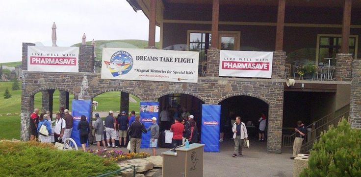 "George's Cream at Links Of Glen Eagle Resort in Cochrane, Alberta & sponsors Air Canada ""Dreams Take Flight"" children charity program."