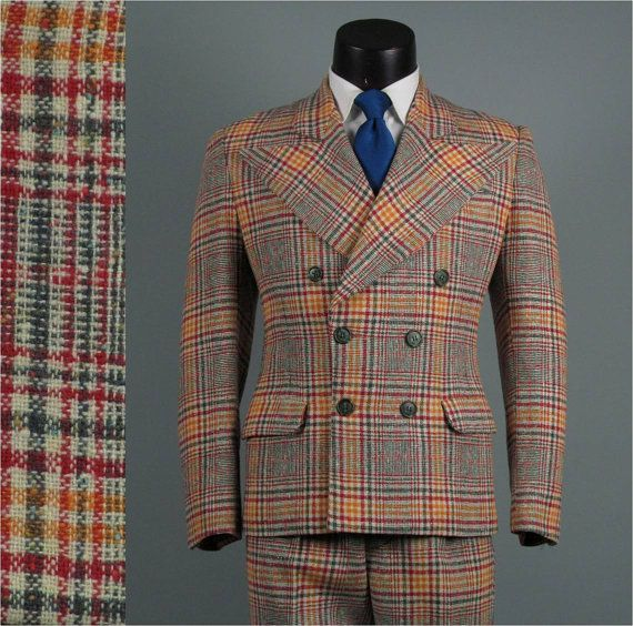 Vintage Mens Suit 1940s AMAZING 6 on 2 Double by jauntyrooster, $325.00