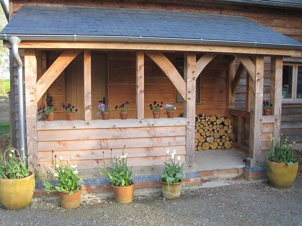 Timberframe Oak Porch Barns Pinterest Porches