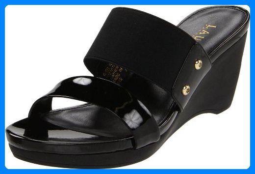 Lauren Ralph Lauren Damen Rhianna Open-Toe Espadrille,schwarz Soft Patent,11 M US - Espadrilles für frauen (*Partner-Link)