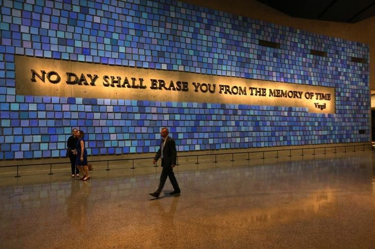 A quote from Virgil will greet visitors. | Haunting, Inspiring Images From The 9/11 Museum