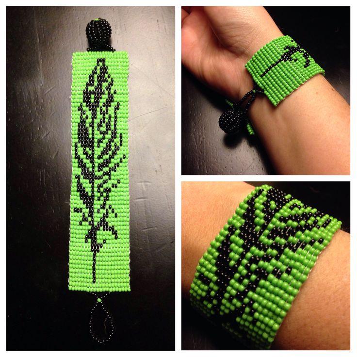 Feather Loom Bracelet Beading Knitting Crochet