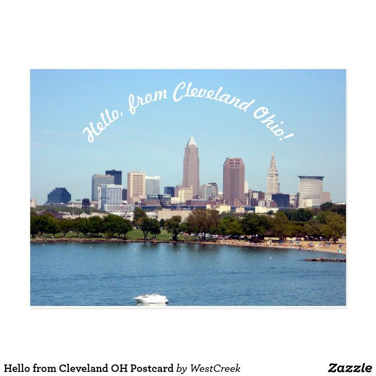 Hello from Cleveland OH Postcard Thank you to the local Ohio buyer, for buying a pack of postcards!