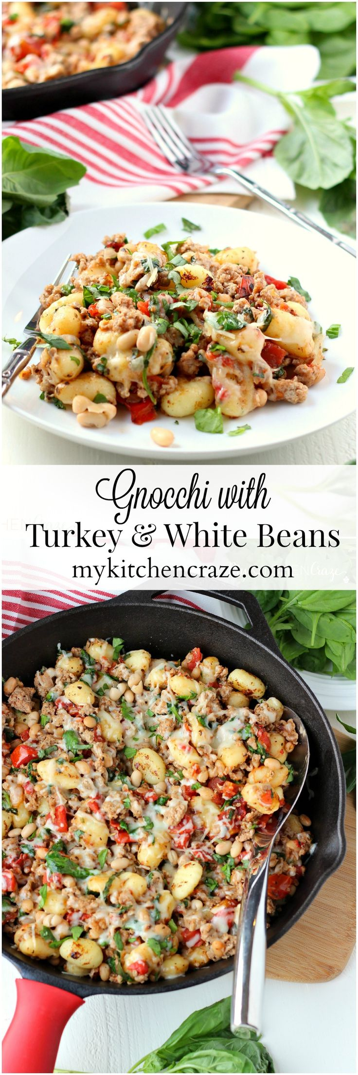 Gnocchi with Turkey & White Beans ~ mykitchencraze.com ~ A no fuss meal that will be on your table within 30 minutes.