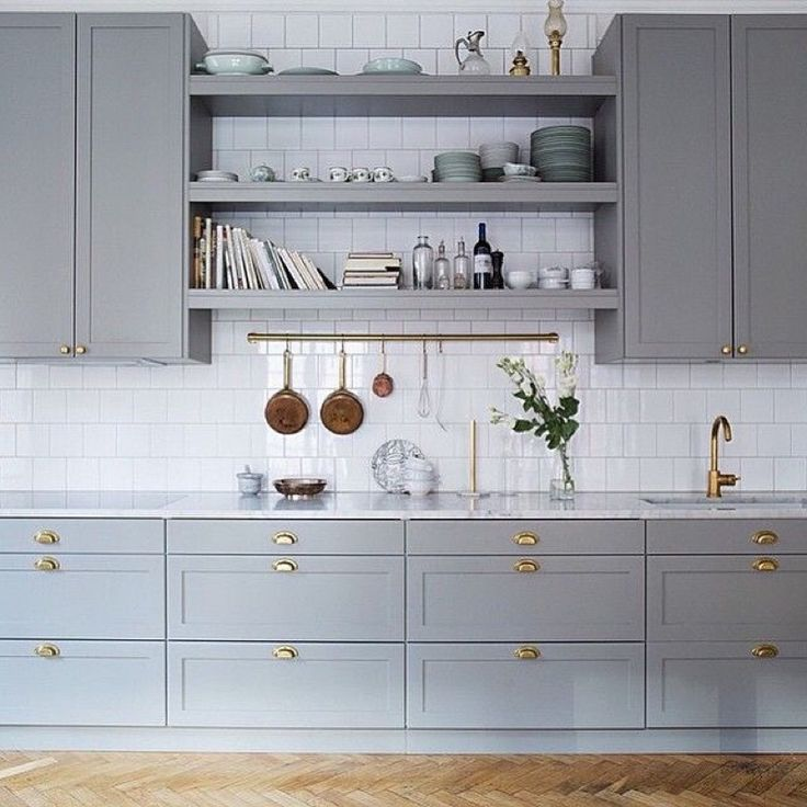 I like the gray, white and brass _ looks classy and elegant