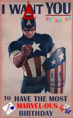 captain America - happy birthday | 1000+ ideas about Happy Birthday Man on Pinterest | Happy Birthday ...