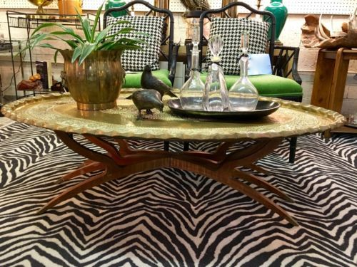Fabulous india fluted brass tray table on sale exceptional for Table 52 prices