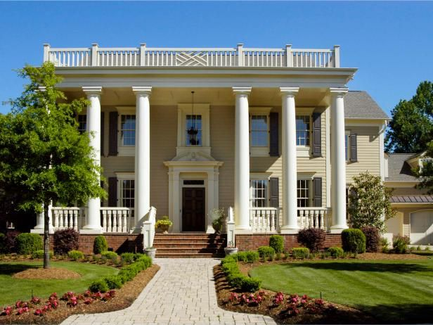 Inspired by Greek architecture and democracy, Greek revival homes feature a symmetrical, formal shape. Learn more about Greek architecture on HGTV.com.