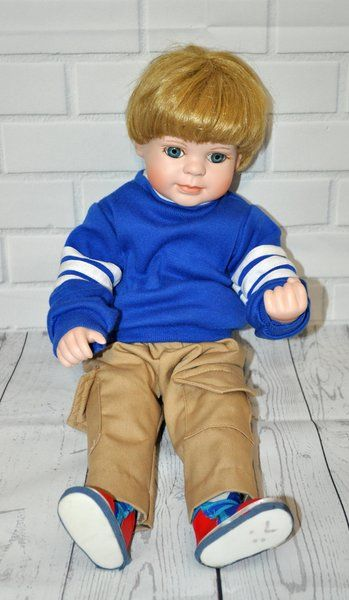 Porcelain Boy Doll The Thinker Hamilton Collection | Thrifty Deals Online Thrift Store - Preowned Clothing Accessories
