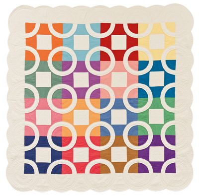"""""""Rings n' Things"""" by Karen Earlywine and Kay Connors, from:  Link to the 30's: Making the Quilts we Didn't Inherit (Martingale)"""